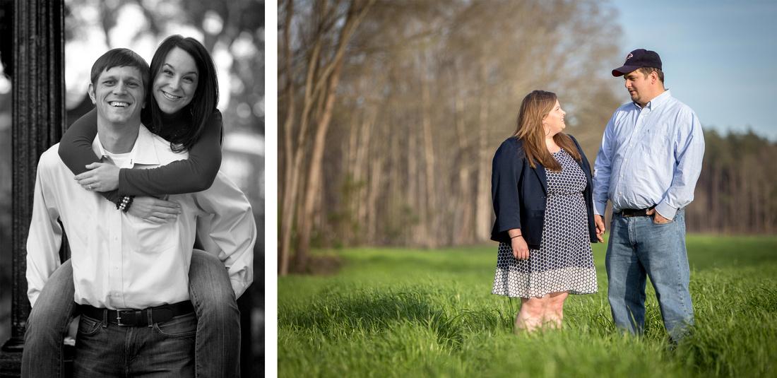 Engagement photography at UGA North Campus and Rutledge, Ga