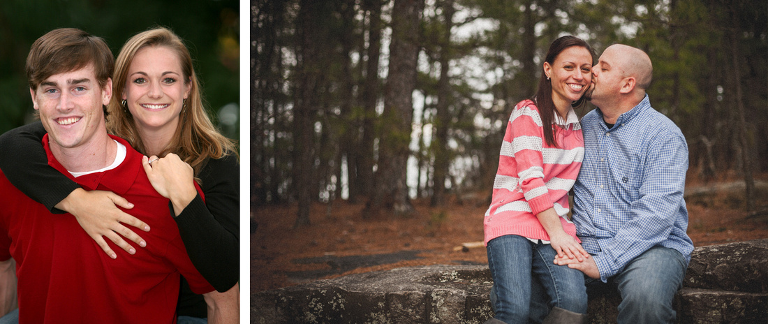 Engagement photography at UGA North Campus and Stone Mountain Park