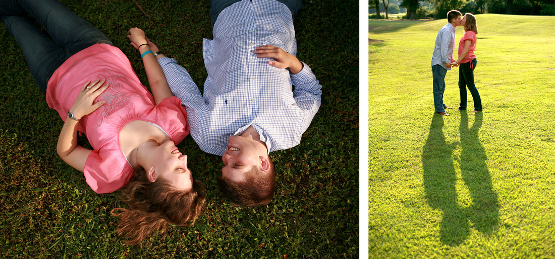 Engagement session and engagement photography at Chastain Park Atlanta