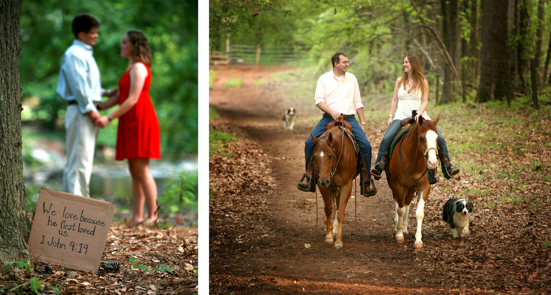 engagement session at Chastain Park and Madison, Georgia